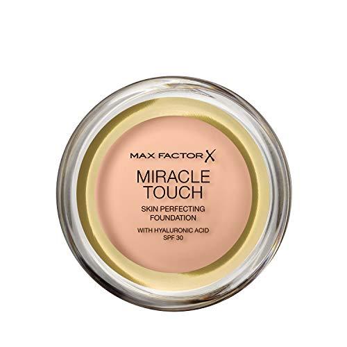 Max Factor Miracle Touch Foundation mit Hyaluronsäure für eine glatte und ebenmäßige Haut, Farbe. 35 Pearl Beige helle Hauttypen, 1er Pack (1 x 11.5 g)