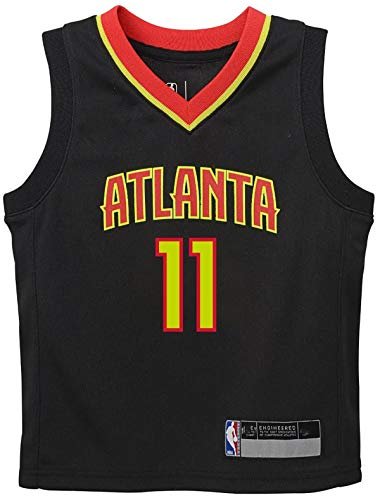 NBA Kids 4-7 Official Name and Number Replica Home Alternate Road Player Jersey (5/6, Trae Young Atlanta Hawks Icon Edition)