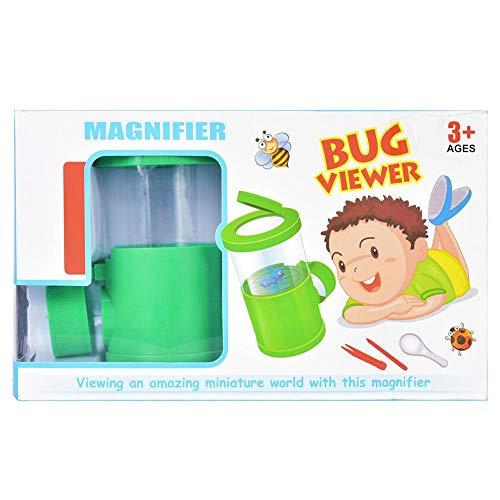Demeras Kinder Puzzle Toy Insect Viewer Mikroskop Kind Kinder nach Hause Reisen(Green)
