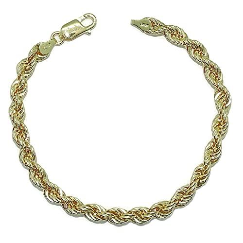 Pulsera cordón de Oro Amarillo de 18k de 5,5 mm de Ancha por 19.50cm de Larga. Ideal para mujer. Cierre mosquetón para máxima seguridad Peso; 5.40gr de Oro de 18k.