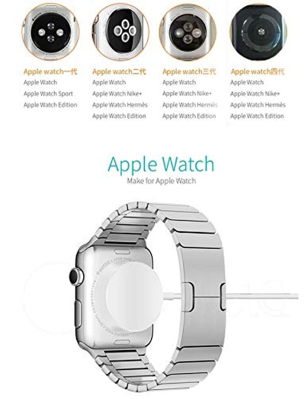 綺麗な汗圧力Rabugoo Apple Watch用QIワイヤレスチャージャーiwatch 1 2 3 4 Fast Charging Station用磁気チャージャ PCホワイトシェル安定恒温