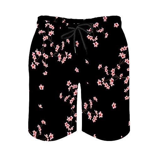 MayBlosom Momo - Pantalones cortos de playa para hombre, de secado rápido, diseño hawaiano, para fiestas y fiestas