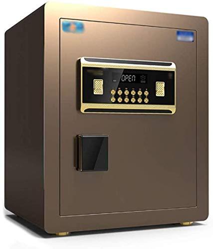 Kluiskluis voor de veiligheidskast, kleine dubbele deur, elektronisch wachtwoord All Steel, hoog verborgen anti-diefstal-safe, geschikt voor: kantoor/home/marketing, meubelkluis bruin