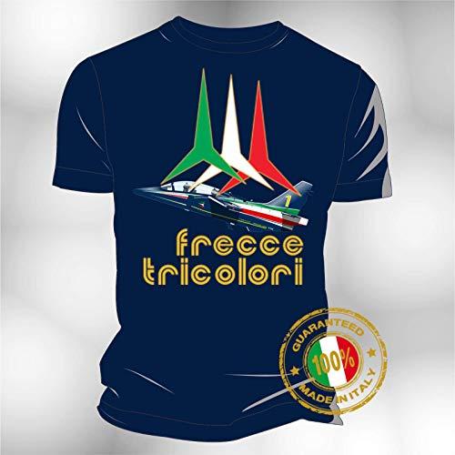 Generico T-Shirt Maglia Frecce Tricolori con Alenia Aermacchi M 345 (6 Anni)