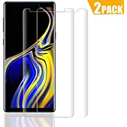 QIANXIANG Screen Protector, Tempered Glass Screen Protector/ 9H Hardness/Anti-Scratch/Anti-Bubble/3D Curved/High Definition Compatible Samsung Galaxy Note 9