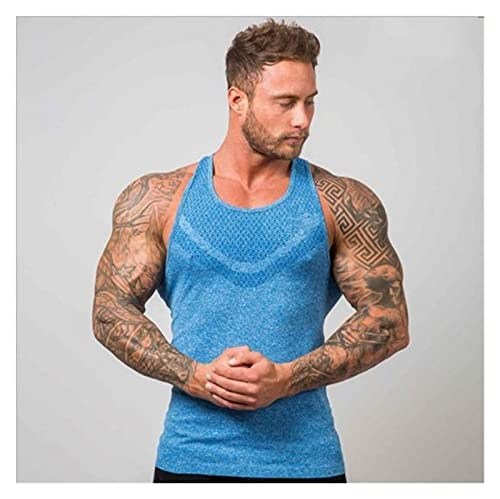 YZRDY Singlets Chalecos Gimnasios Mens Tank Tops Camisa Equipo De Culturismo Fitness Men's Deportes Top (Color : A, Size : No)
