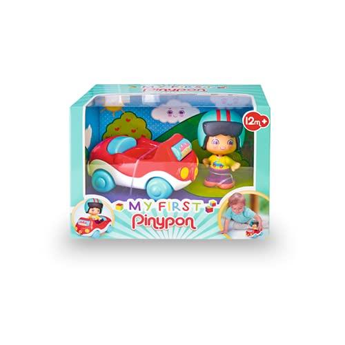 Pinypon - My First, Happy Vehículos Coche, Cochecito rojo de juguete con...