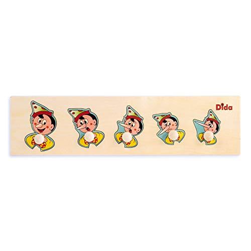 Dida - Puzzles secuencias - Pinocho - Rompecabezas de Madera para niños