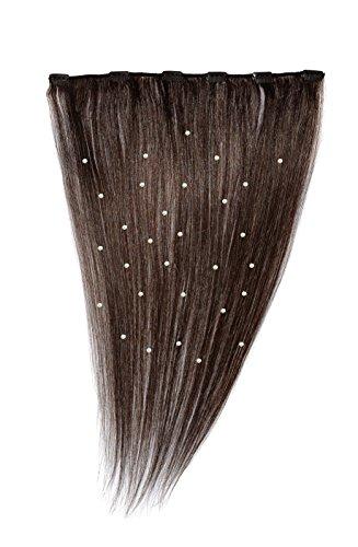 American Dream - A19/QFC12/18/4 - 100 % Cheveux Naturels - Pièce Unique Extensions Cristallisées à Clipper - Couleur 4 - Brun Châtain - 46 cm