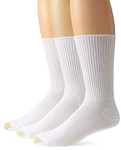Gold Toe Men's Fluffies Casual Sock (2 PK (6 PAIRS), White)