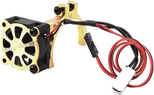 Ventilador de enfriamiento de motor RC Para RC Car 3650 3660 550 540 Motor Sensor De Enfriamiento Del Disipador De Calor Con Un Disipador Térmico De La Abrazadera De Aleación CNC, Amarillo RC Motor Se