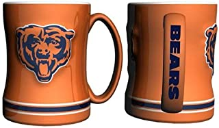 Hall of Fame Memorabilia Chicago Bears Coffee Mug - 15oz Sculpted, Orange