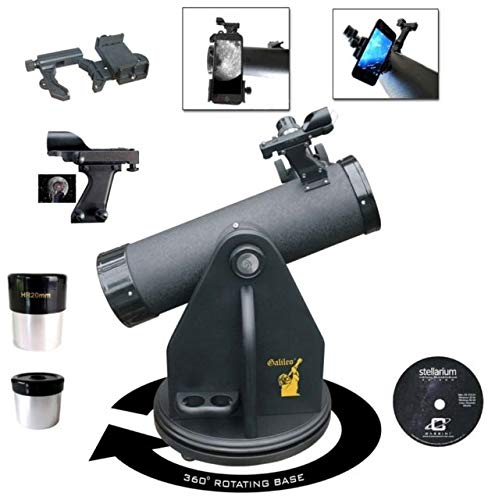 Galileo 500mm X 80mm Table Top Dobsonian Telescope with Smartphone Photo/Video Adapter