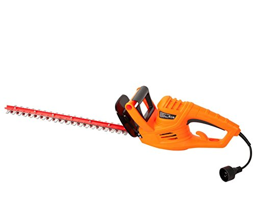 GARCARE Corded Hedge Trimmer 4.8-Amp with 24-Inch Laser Cutting Blade, Blade Cover Included