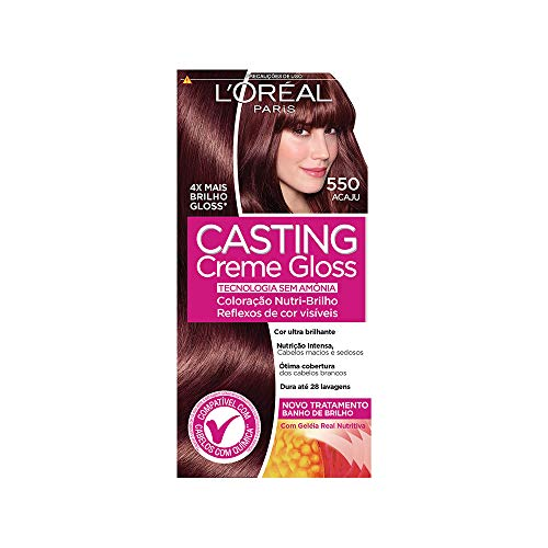Coloração Casting Creme Gloss, L'Oréal Paris, 550 Acaju