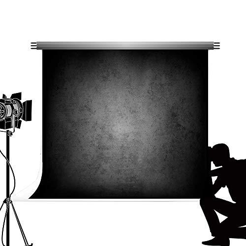 Kate Sfondo grigio nero Fotografia Sfondo fotografico Grigio sfumato Sfondo pieghevole 3 * 2m Morbido sfondo in microfibra / Consigliato per Ritratto Fotografia e riprese video