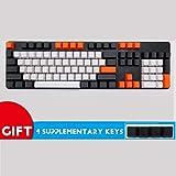 KEEZSHOP Keycaps, 108 Tecla Teclado de Cubierta de Carbono PBT Keycap Grabado Lado keycaps para FILCO Teclado Mecánico