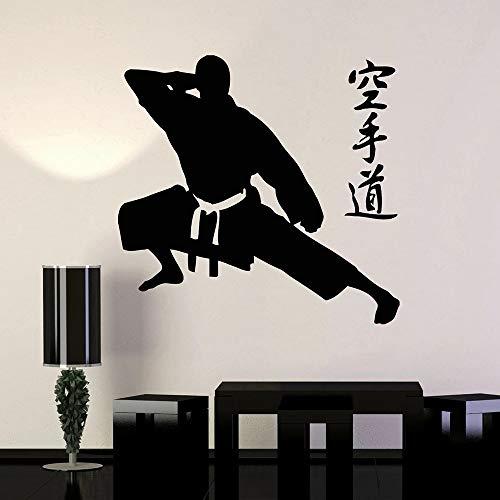 Karate Artes marciales Vinilo Karate-Fighter Sports Karate Gym Etiqueta de la pared