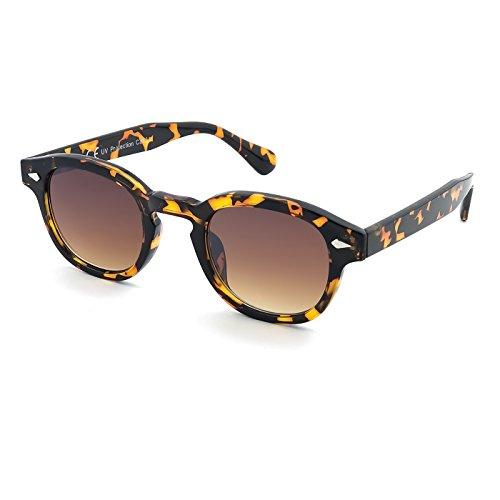 KISS Gafas de sol estilo MOSCOT mod. DEPP ICONIC - Johnny Depp hombre mujer VINTAGE unisex - HAVANA