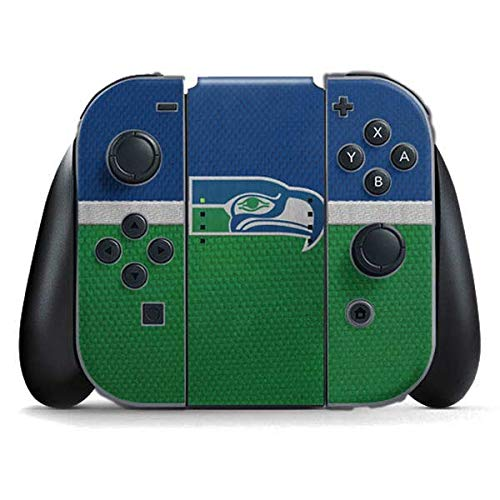Skinit Decal Gaming Skin Compatible with Nintendo Switch Joy Con Controller - Officially Licensed NFL Seattle Seahawks Vintage Design