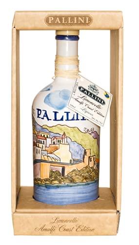 Pallini Limoncello IGP - 500 ml + astuccio: edizione limitata in ceramica handmade. Infuso del pregiato 'Limone Costa D'Amalfi IGP' – Senza ingredienti artificiali – 28% ABV.