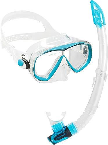 Cressi Unisex-Adult Estrella + Gamma Combo Set Tauchmaske und Schnorchel, Transparent/Aquamarin, Einheitsgröße