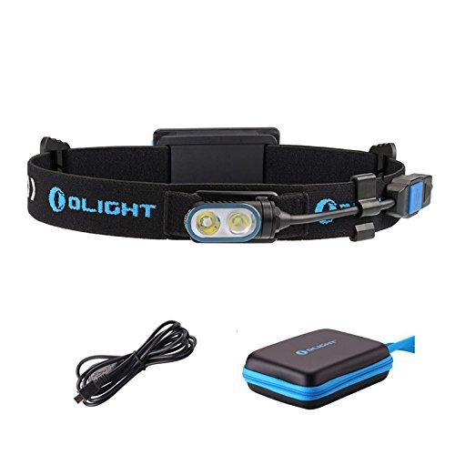 Linterna frontal Olight HS2 para cabeza con luz LED de 400lúmenes XP-G2CW, incluye batería