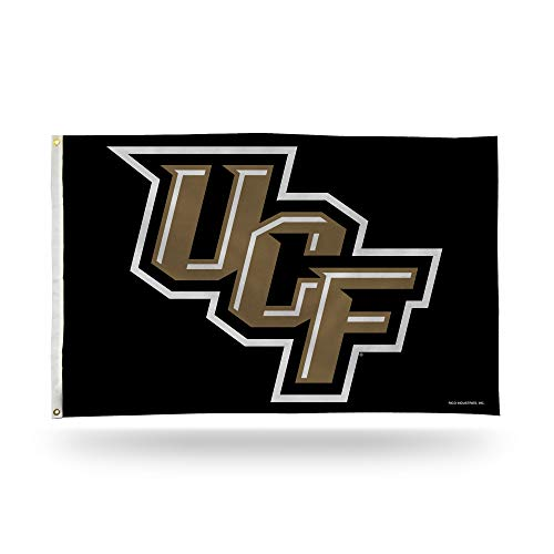 NCAA Rico Industries 3-Foot by 5-Foot Single Sided Banner Flag with Grommets, UCF Knights