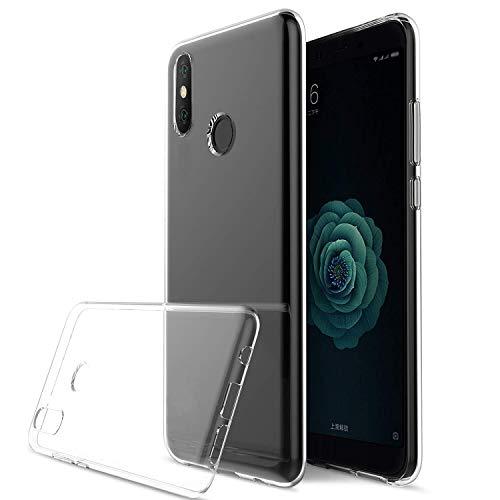 König Design Handy-Hülle Kompatibel mit Nokia 6.1 Plus transparente Schutz-Hülle Transparent Silikon Slim Hülle Plastik Cover durchsichtig