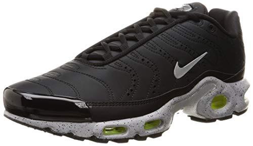 Nike Men's Air Max Plus PRM, Black/Matte Silver-Volt, 7.5 M US