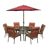 Amalfi Rectangular Seater Dining Parasol