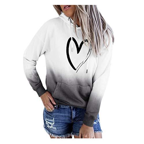 carol -1 Damen Fashion Oversize Gedruckt Patchwork Sweatshirt Langarm Pullover Outwear Tie Dye Pullover Hoodie für Damen, Kapuzenpullover, Batik-Optik