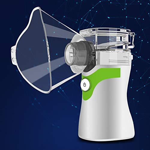 FXX Nebulizador, Inhalador De Vapor Portátil, Cámara En Mano Humidificador Ultrasónico para Niños Y Adultos De Viajes Y Uso Doméstico,Verde