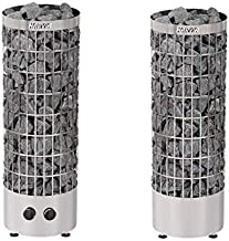 Sauna Poêle Électrique Harvia Cilindro PC90 9,0 kW acier inoxydable, avec unité de contrôle encastré, Taille de sauna: 8 -...