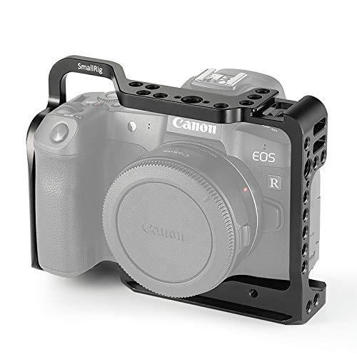 SmallRig 2251 Camera Cage para Canon EOS R con Orificios de Rosca para micrófono Magic Arm Adjunto para fotografía de grabación de Video Vlog