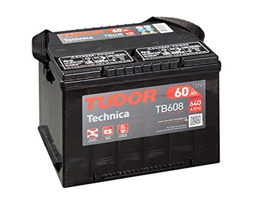 Batería para coche Tudor Exide Technica 60Ah, 12V. Dimensiones: 230 x 180...