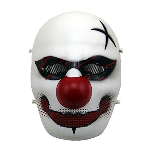haoYK Máscara táctica de airsoft de cara completa Cosplay Joker Máscara para BB Gun CS Party