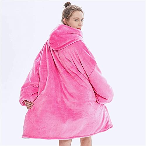 Manta de con Mangas,Manta con capucha, invierno súper suave y cálida manta con mangas de lana Manta de lana con capucha Sudadera gruesa de felpa para adultos Sudadera con capucha de TV Mantas(Color: