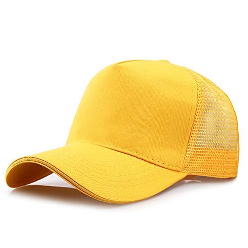 FHHYY Baseball cap cap cap Vijf panelen blanco cap mannelijke mesh honkbal hoed volwassen reclame cap mannen en vrouwen effen kleur piekte cap