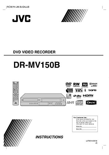 Reprint for JVC DR-MV150B DVD Recorder Owners Instruction Manual