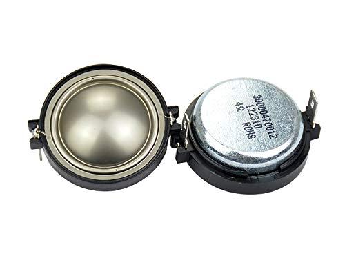 WNJ-TOOL, 2 STÜCKE HiFi 1 ZIMM Tweeter Lautsprecher 4OHM 20W Treble Lautsprecher für E20 E80 ES10 EC35 Ersatzauto Audio-DIY Silber-Diaphragma (Größe : 1