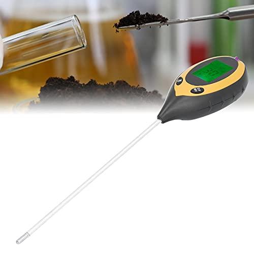 Medidor de pH de humedad del suelo, medidor de pH del suelo 4 en 1 Probador de suelo Luz de humedad para plantas agrícolas para el cuidado del césped Suelo de agua para exteriores interiores