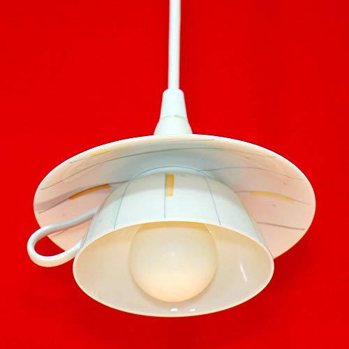 Tassenlampe, Lampe aus Kaffeetasse, Boho Geschirrlampe, Küchenlampe aus Geschirr, Landhauslampe