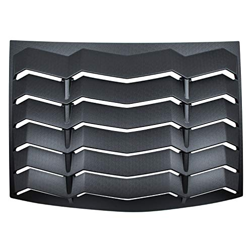CUMART Rear Window Louvers Windshield Sun Shade Cover Lambo Style Matte Black Compatible with Ford Mustang 2005 2006 2007 2008 2009 2010 2011 2012 2013 2014