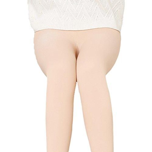 LaoZan Invierno Leggings Largos de Mujer/Pantalones Leggins de Las Mujeres- Tres Estilos Stirrup Leggings Color de Piel