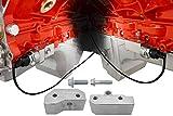 ICT Billet LS Gen III Knock Sensor Relocation Brackets Billet Aluminum Compatible with GM LS Gen 3 Engines LS1 LM7 LR4 LQ4 LS6 L59 LQ9 LM4 551216-KN30