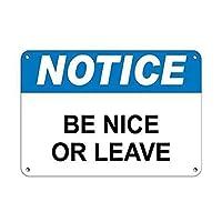 ヴィンテージスタイルのノスタルジックな広告の壁サイン、通知は素敵か休暇か、店の看板屋内と屋外の使用が簡単なガレージ用のアルミ看板金属看板