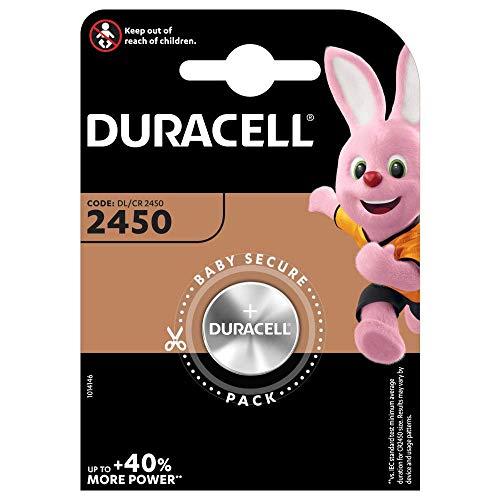 Duracell Specialty 2450 Lithium-Knopfzelle 3V, 1er-Packung (CR2450 /DL2450) entwickelt für die Verwendung in Schlüsselanhängern, Waagen, Wearables und medizinischen Geräten
