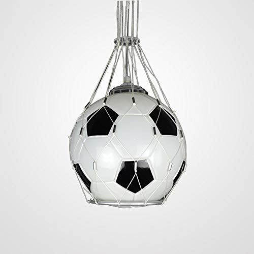 TUNBG Fußball Kreative Kronleuchter LED WM Glas Fußball Kronleuchter Kinderzimmer Licht Fan Schlafzimmer Zimmer Lampe Kronleuchter