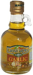 Mantova Grand'aroma Garlic Flavored Extra Virgin Olive Oil, 8 Pound (Pack of 6)